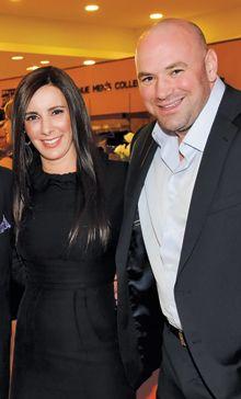 Дана Уайт с женой на фото
