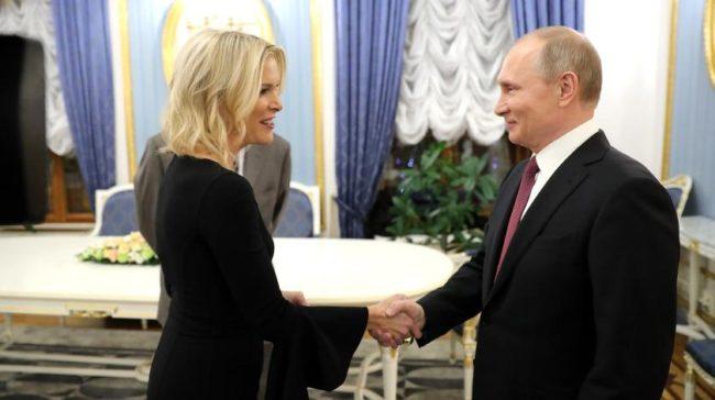 Меган Келли и Владимир Путин на фото