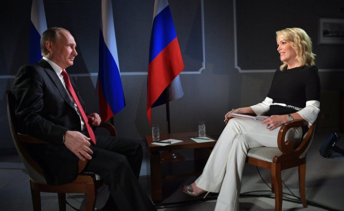 Владимир Путин и Меган Келли на фото