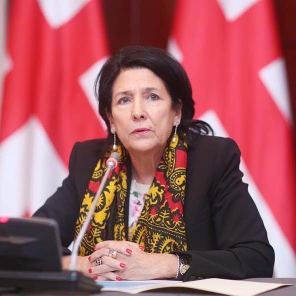 На фото президент Грузии Саломе Зурабишвили