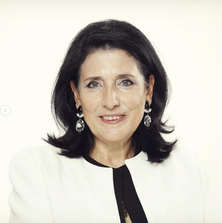Саломе Левановна Зурабишвили на фото президент Грузии