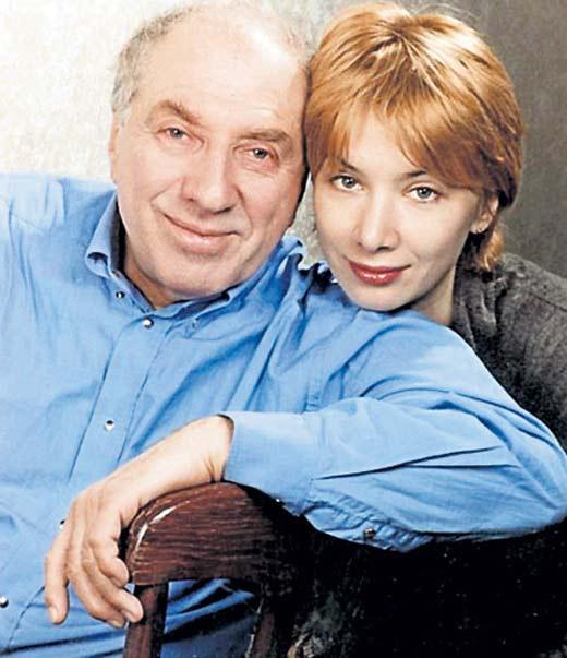 Сергей Юрский и Дарья Юрская в фото